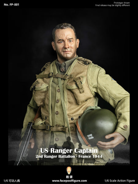 1/6 Scale WWII United States Army Rangers Captain Miller Figure by FacePool