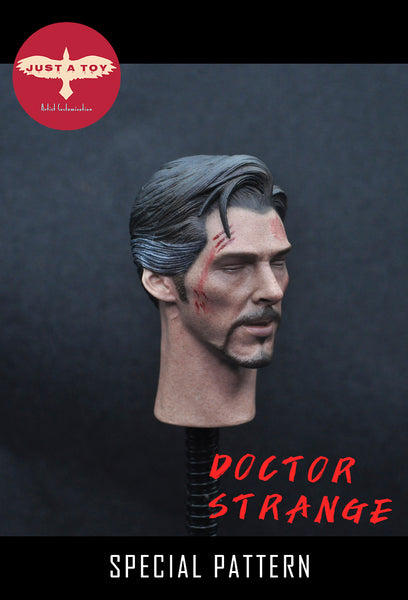 1/6 Scale Doctor Strange Head Sculpt (Battle Damaged Version) by Just A Toy