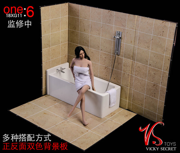 1/6 Scale Bathroom Diorama Display Set by VS Toys