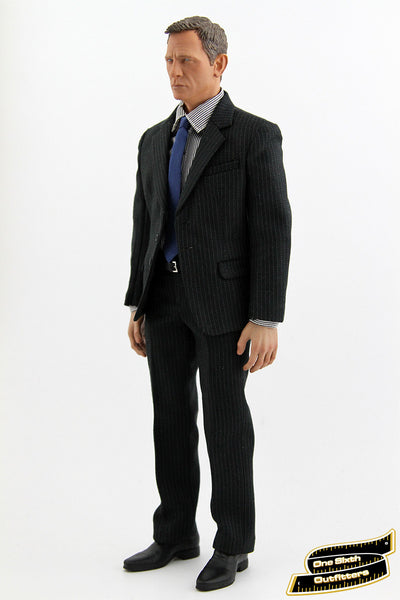 1/6 Scale Navy Stripe Suit Set