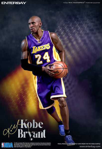 1/6 Scale Kobe Bryant NBA L.A Lakers 2 Pack Figures (Upgraded Re-Edition) By Enterbay