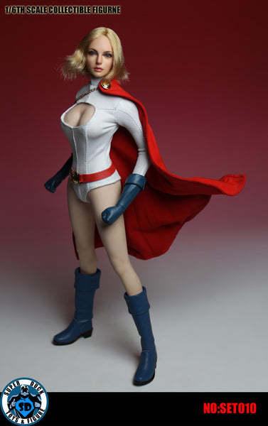 1/6 Scale Powerful Female Head Sculpt & Outfit by Super Duck Toys