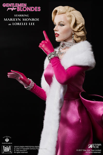 1/6 Scale Marilyn Monroe Lorelei Lee Pink Dress Figure by Star Ace Toys