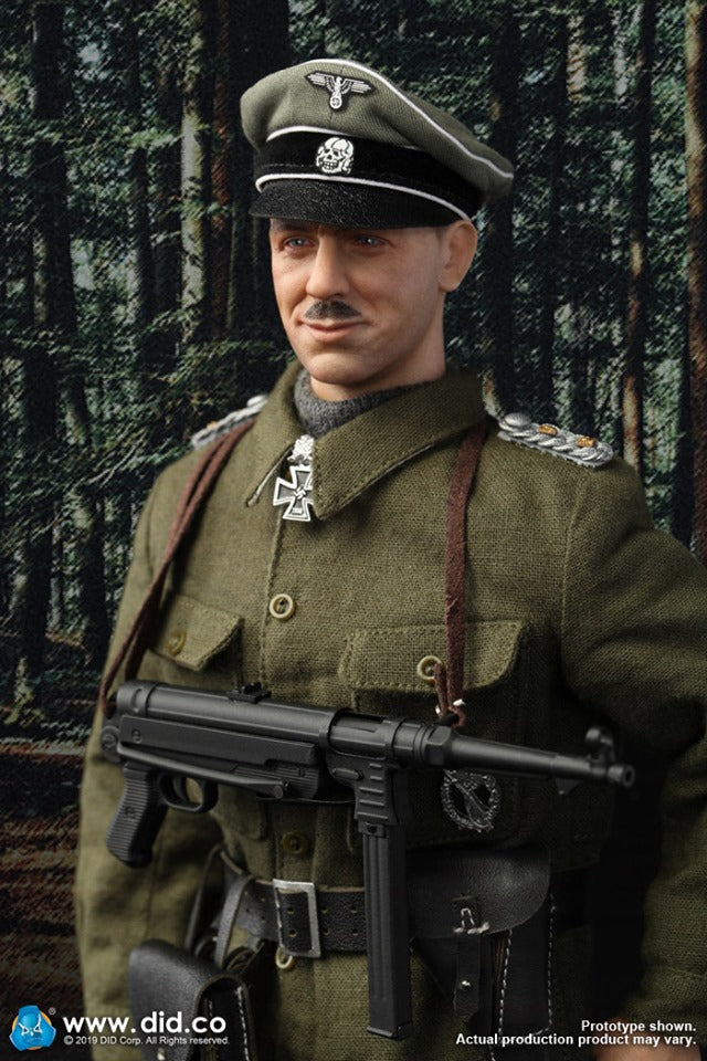 DID WWII German Kurt Meyer head sculpt with mustache 1//6 scale toys 3R