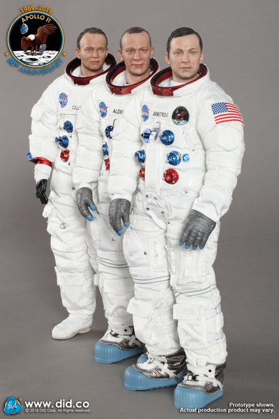 1/6 Scale Apollo 11 Astronauts - Armstrong, Aldrin, and Collins Figure Set by DID