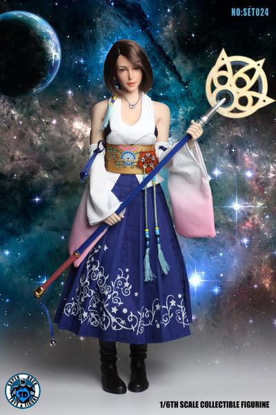 1/6 Scale FFX Yuna Summoner Head Sculpt & Outfit Set by Super Duck Toys
