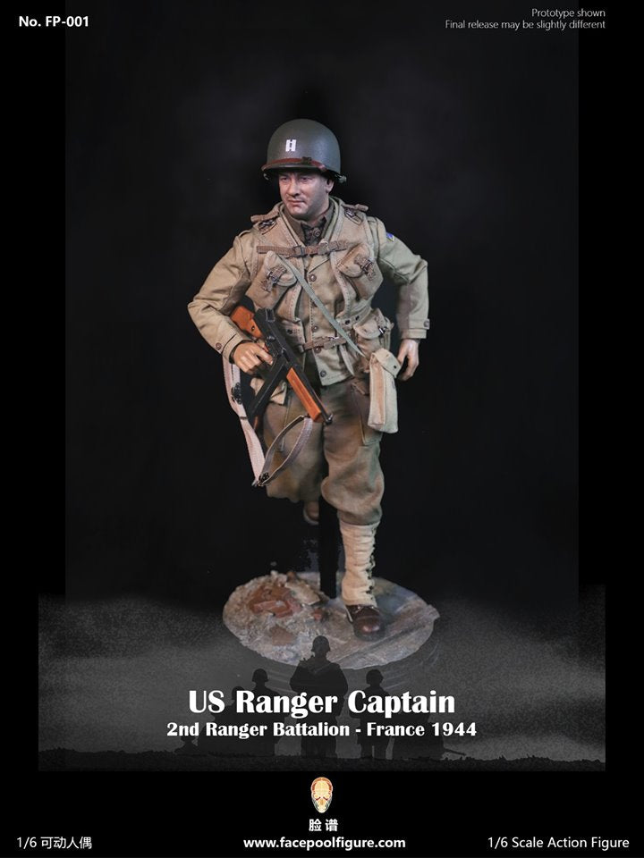 FACEPOOL 1/6 SCALE WWII US RANGER CAPTAIN 2nd RANGER