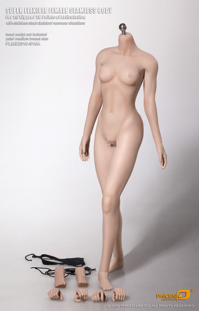 1/6 Scale Female Medium Bust Seamless Body (Pale Version PL-MB2016-S16A) by Phicen