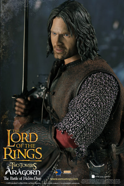 1/6 Scale The Lord of the Rings -  Aragorn Figure (Battle at Helm's Deep) by Asmus Toys