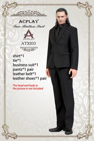 1/6 Scale Men's Black Business Suit by AC Play