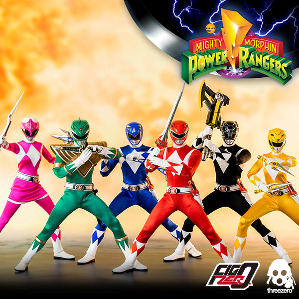 1/6 Scale Mighty Morphin Power Rangers - 6 Figure Pack by Threezero