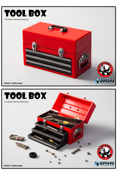 1/6 Scale Tool Box (4 Colors) by Cat Toys