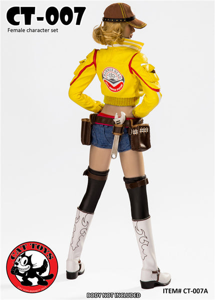 1/6 Scale Cindy The Mechanic Handywoman Outfit Set by Cat Toys