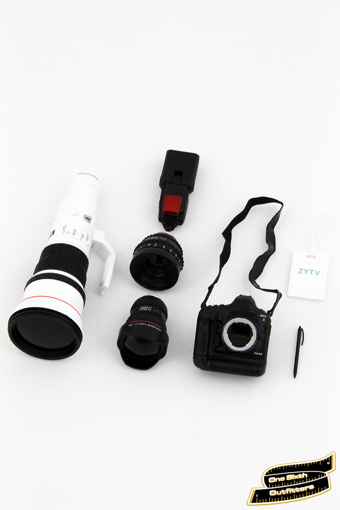 1/6 Scale Professional DSLR Camera Equipment Set