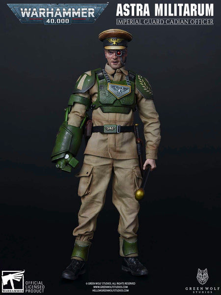 1/6 Scale Warhammer 40K - Imperial Guard Cadian Officer by Green Wolf Gear