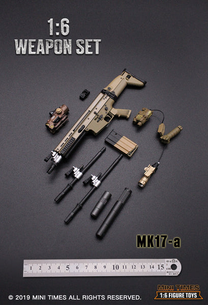 1/6 Scale MK17 Special Combat Assault Rifle (6 Versions) by Mini Times