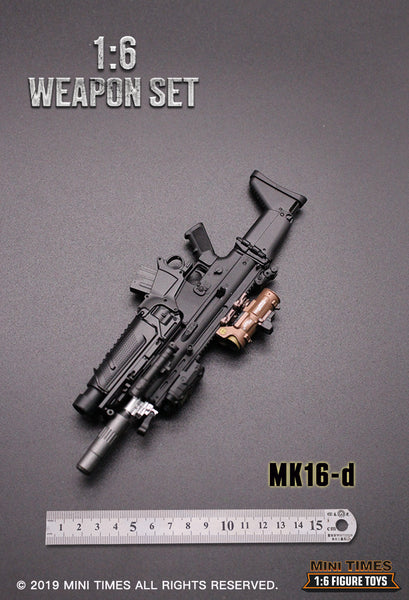 1/6 Scale MK16 FN SCAR Assault Rifle (4 Versions) by Mini Times