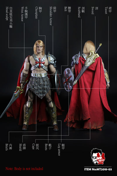 1/6 Scale Courageous Warrior Head Sculpt & Outfit Set by Mr. Toys