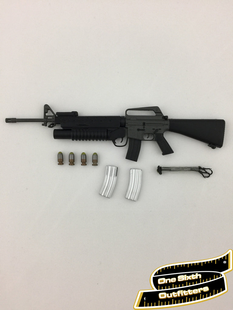 1/6 Scale M16 Assault Rifle with M203 Grenade Launcher