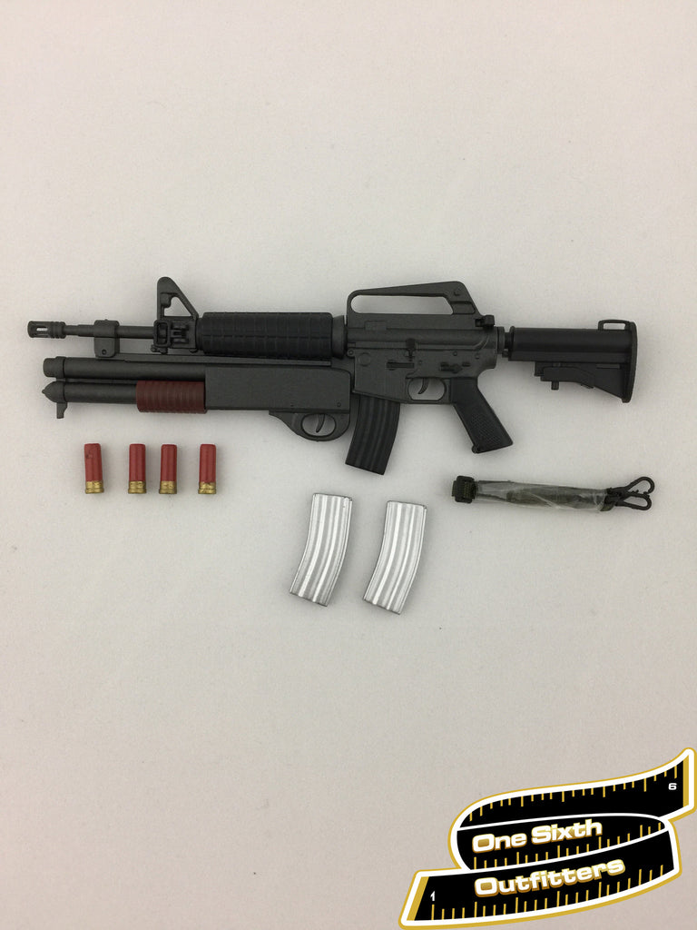 1/6 Scale M16 Assault Rifle with Shotgun Attachment