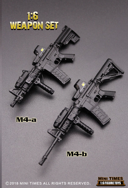 1/6 Scale M4 carbine (2 Styles) by Mini Times