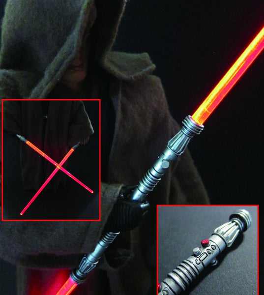 1/6 Scale Maul Red LED Lightsabers
