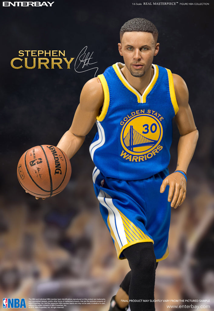 1/6 Scale Stephen Curry NBA Golden State Warriors Figure by Enterbay