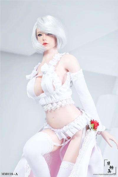 1/6 Scale Sexy Flower Wedding Dress (2 Colors) by ManModel