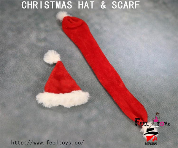 6129289fa72 1 6 Scale Christmas Santa Hat   Scarf Set by FeelToys
