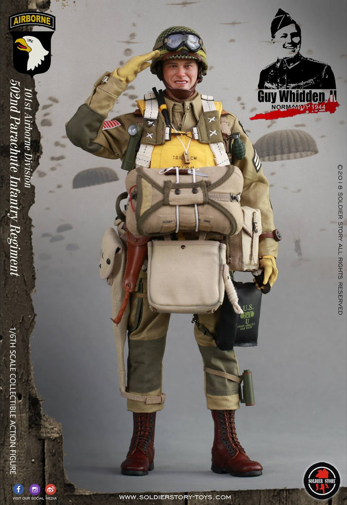 SoldierStory SS110 1//6 WWII 101st Airborne Division Guy Whidden Figure Pistol