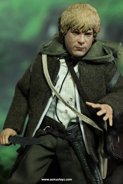 1/6 Scale Lord of the Rings Frodo Baggins and Samwise Gamgee Figure Set (Slim Versions) by Asmus Toys