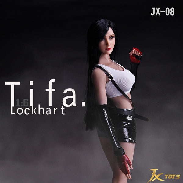 1/6 Scale Female Fighter Tifa Clothing Outfit Set by JX Toys