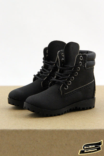 1/6 Scale Men's Classic Black Work Boots