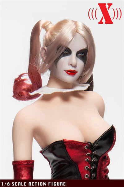 1/6 Scale Clown Girl Head Sculpt and Outfit Set by XToys