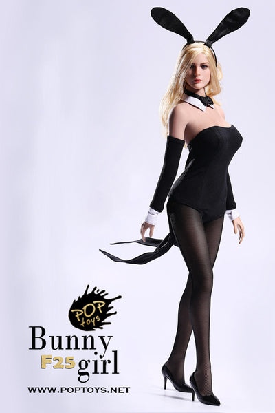1/6 Scale Bunny Girl Waitress Outfit (4 Colors) by Pop Toys