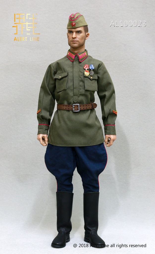 Alert Line 1//6 WWII 1942 Red Army Infantry Lieutenant Officer Costume AL100023