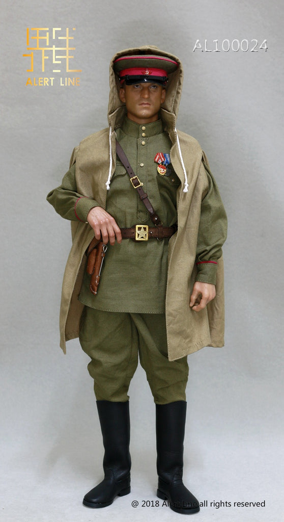 Red Army Senior Officer Officer Hat w// Star 1//6 Scale Alert Line Figures