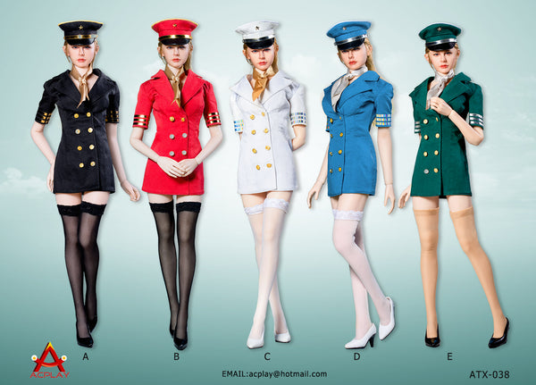 1/6 Scale Flight Attendant Dress (5 Colors) by AC Play