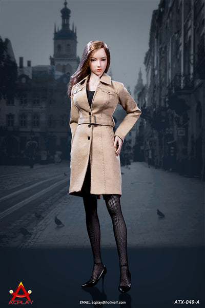 1/6 Scale Female Trench Coat Outfit Set ( 3 Colors) by AC Play
