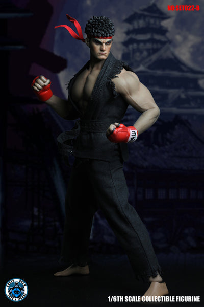 1/6 Scale Street Fighter Head Sculpt & Outfit Set (2 Colors) by Super Duck Toys