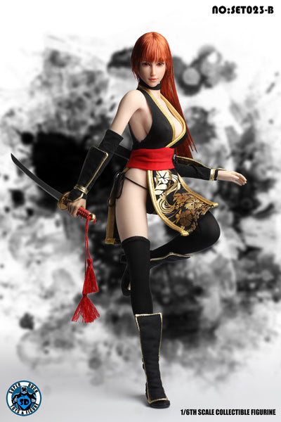 1/6 Scale DOA Fighting Girl 2.0 Kasumi Head Sculpt & Outfit Set by Super Duck Toys