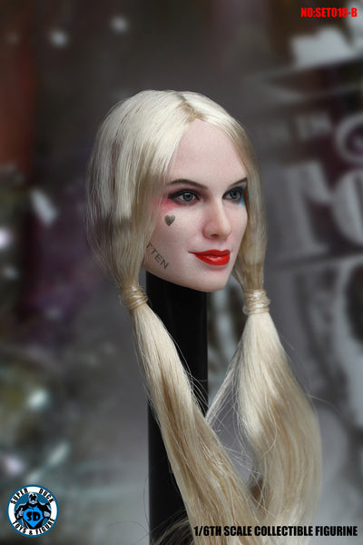 1/6 Scale Harley Head Sculpt & Prison Outfit Set by Super Duck Toys
