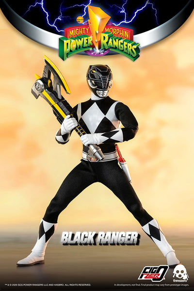 1/6 Scale Mighty Morphin Power Rangers - Black Ranger Figure by Threezero