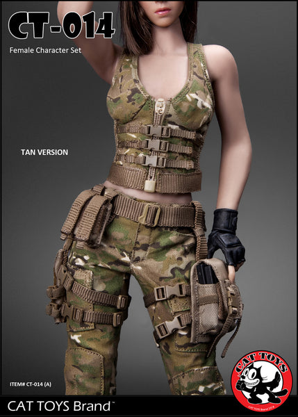 1/6 Scale Military Female Character Set (2 Colors) by Cat Toys