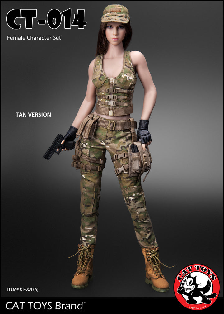 Green Uniform B Cat Toys Action Figures 1//6 Scale CT014 Military Female