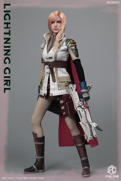 1/6 Scale Lightning Girl Head Sculpt & Outfit Set by FIGURECOSER