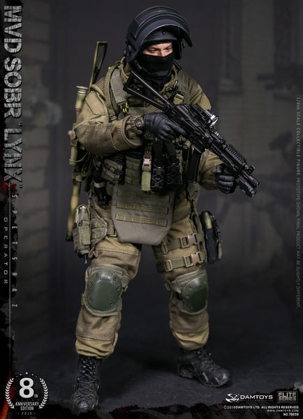 1/6 Scale Russian Spetsnaz MVD SOBR Lynx Figure (8th Anniversary Edition) by DamToys