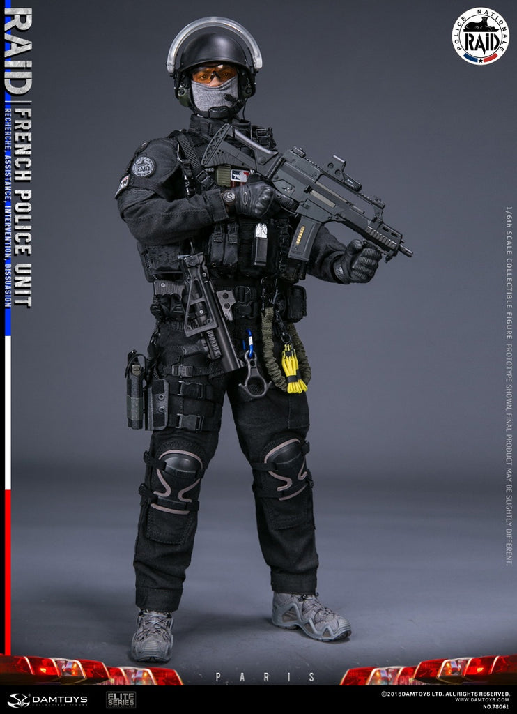 Y17-70 1//6scale DAMTOYS 78076 FRENCH POLICE GIPN-head sculpture