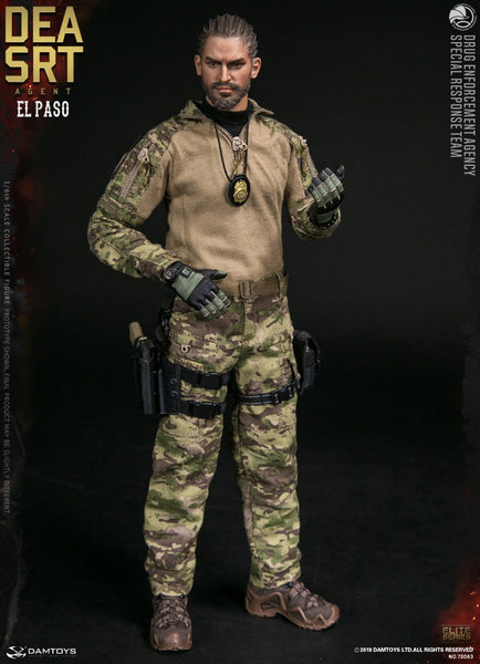 1/6 Scale DEA SRT Special Response Team Agent El Paso Figure by DamToys