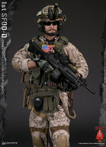 1/6 Scale 1st SFOD-D Combat Applications Group Gunner Figure by DamToys